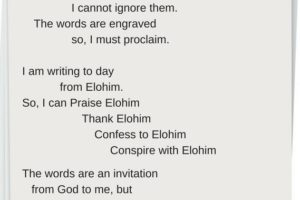 YHWH Writes the Words