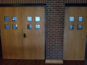 The doors to the gym