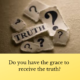 Grace Receives Truth