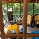 Build Sabbath Outside.  A picture of my back porch and yard