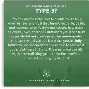 a prayer for an Enneagram Type 3