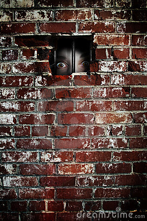 An Enneagram Type 5 looking through his/her wall
