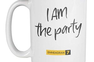 """Enneagram Type 7 mug stating """"I am the Party"""""""