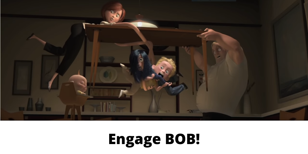Mr. Incredible attempting to engage in Faithful Fatherhood.