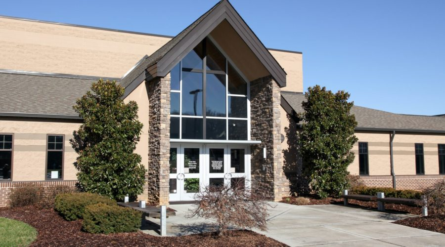 A picture of the entrance to my home church Hardin Valley Church of Christ
